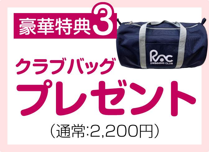 豪華特典3 クラブバッグプレゼント